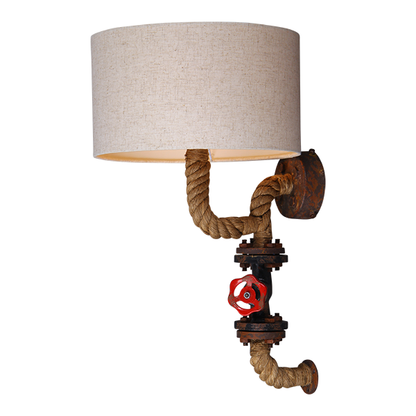 online store 9b2d9 52ab4 Rope Wall Light with Drum Shade