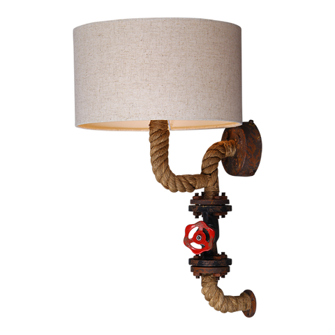 Rope Wall Light with Drum Shade - Ivanka lumiere