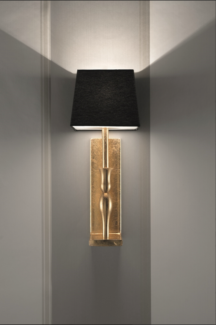 Gold and Black Wall Sconce