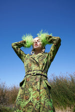 andreeva coat with feathers cuffs