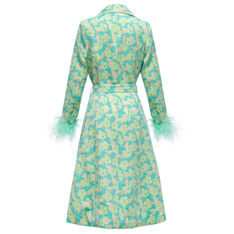 andreeva coat with feathers