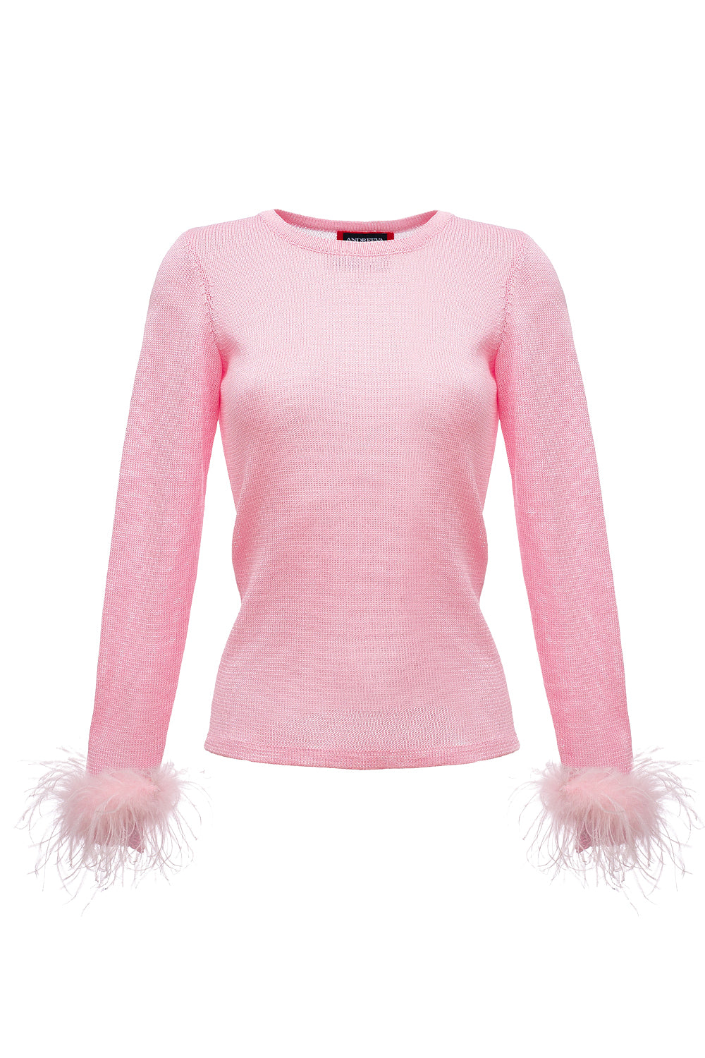 andreeva pink knit top