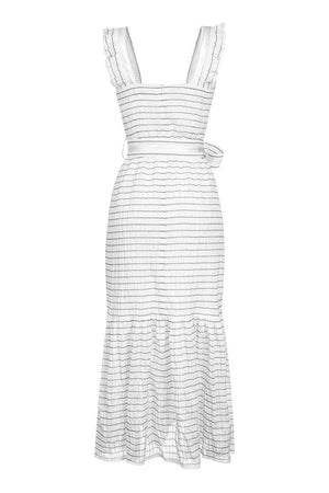 andreeva long white summer dress