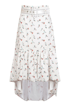 andreeva white skirt with floral print