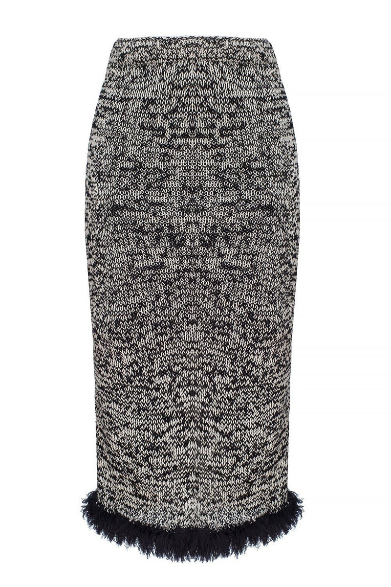 Grey Handmade Knit Skirt - skirt