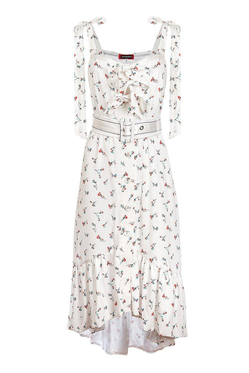 White Rose Midi Dress