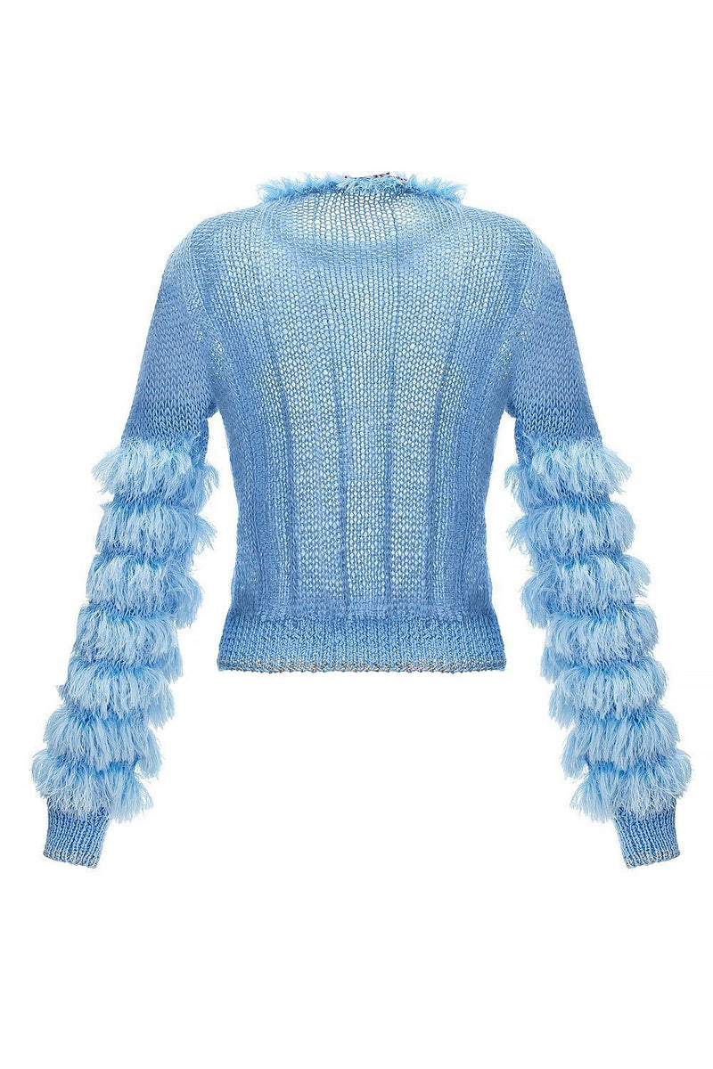Blue Swan Handmade Knit Sweater - sweater