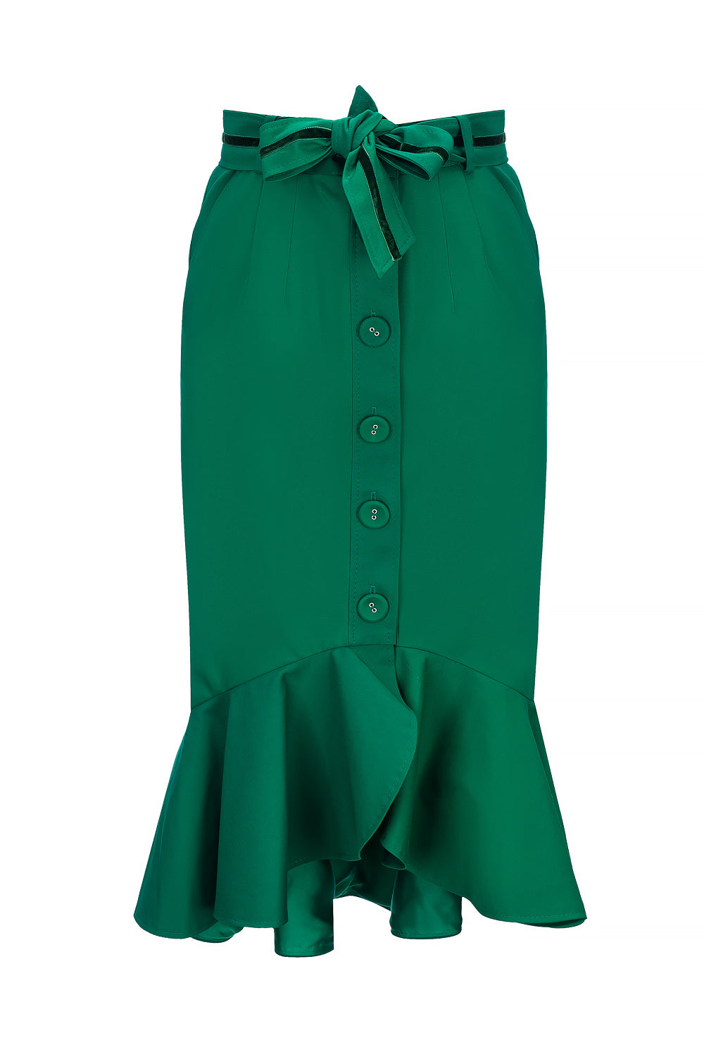 green cotton skirt by andreeva