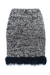 Grey Mini Handmade Knit Skirt - skirt
