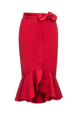 red cotton skirt by andreeva