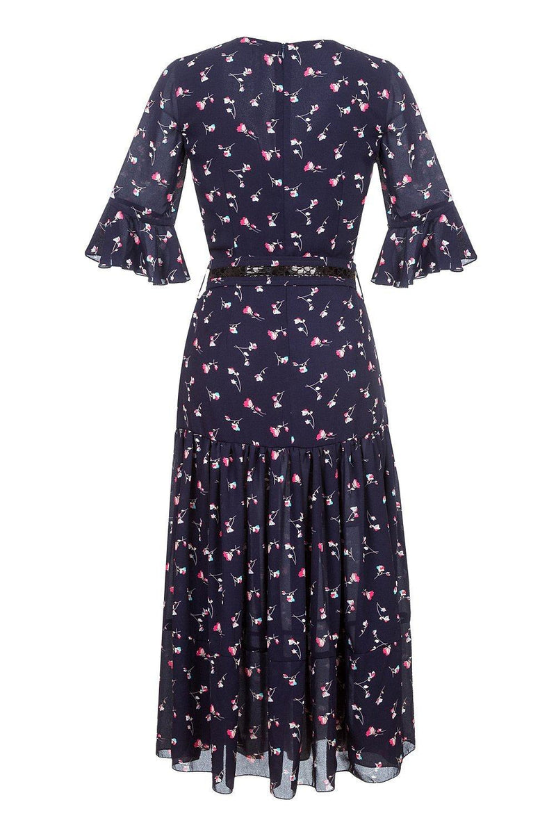 andreeva blue dress with floral print