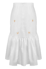 andreeva cotton white skirt
