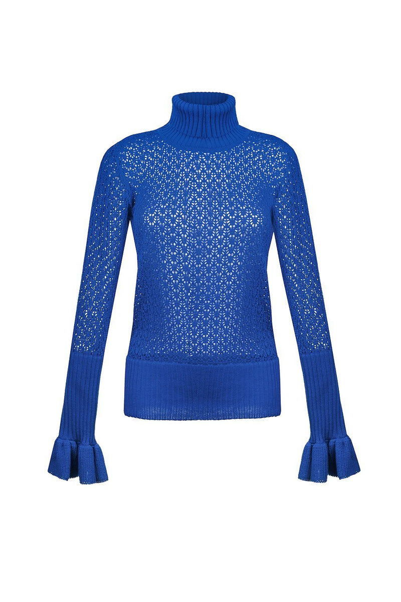Favorite knit turtleneck - XS / Blue - top