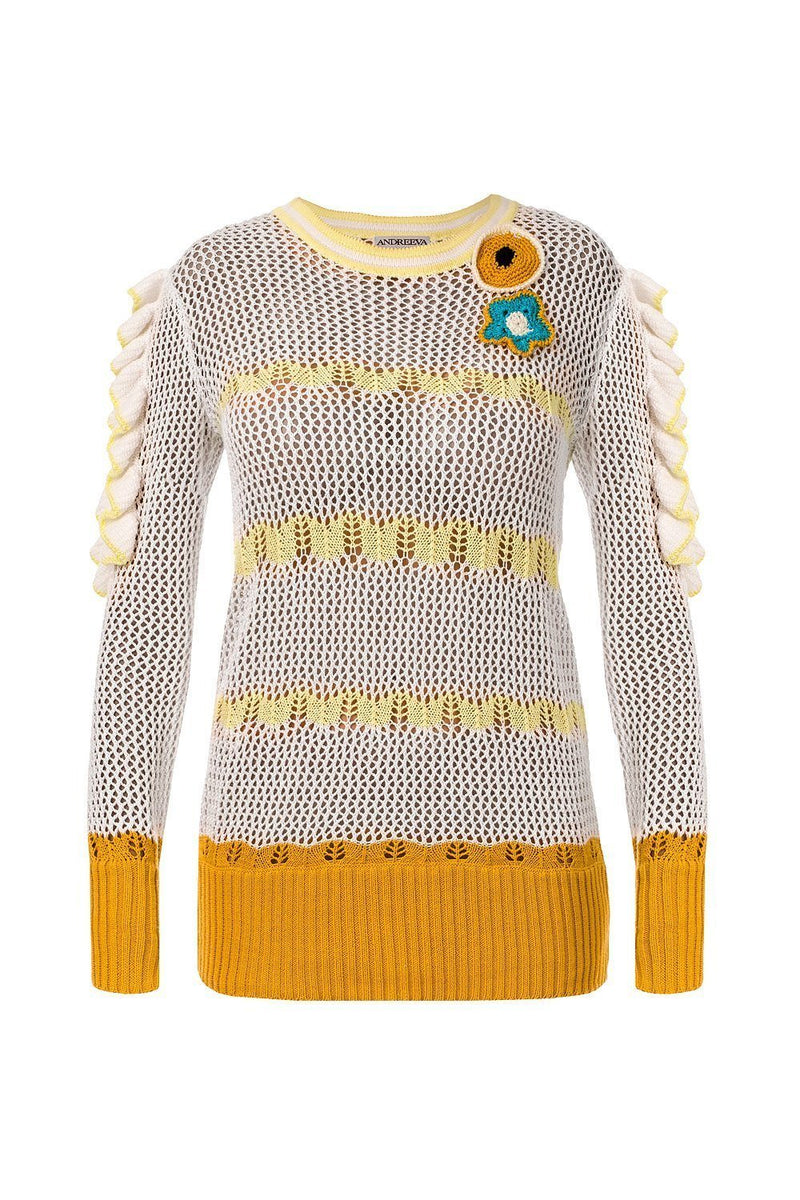 andreeva summer knit yellow sweater