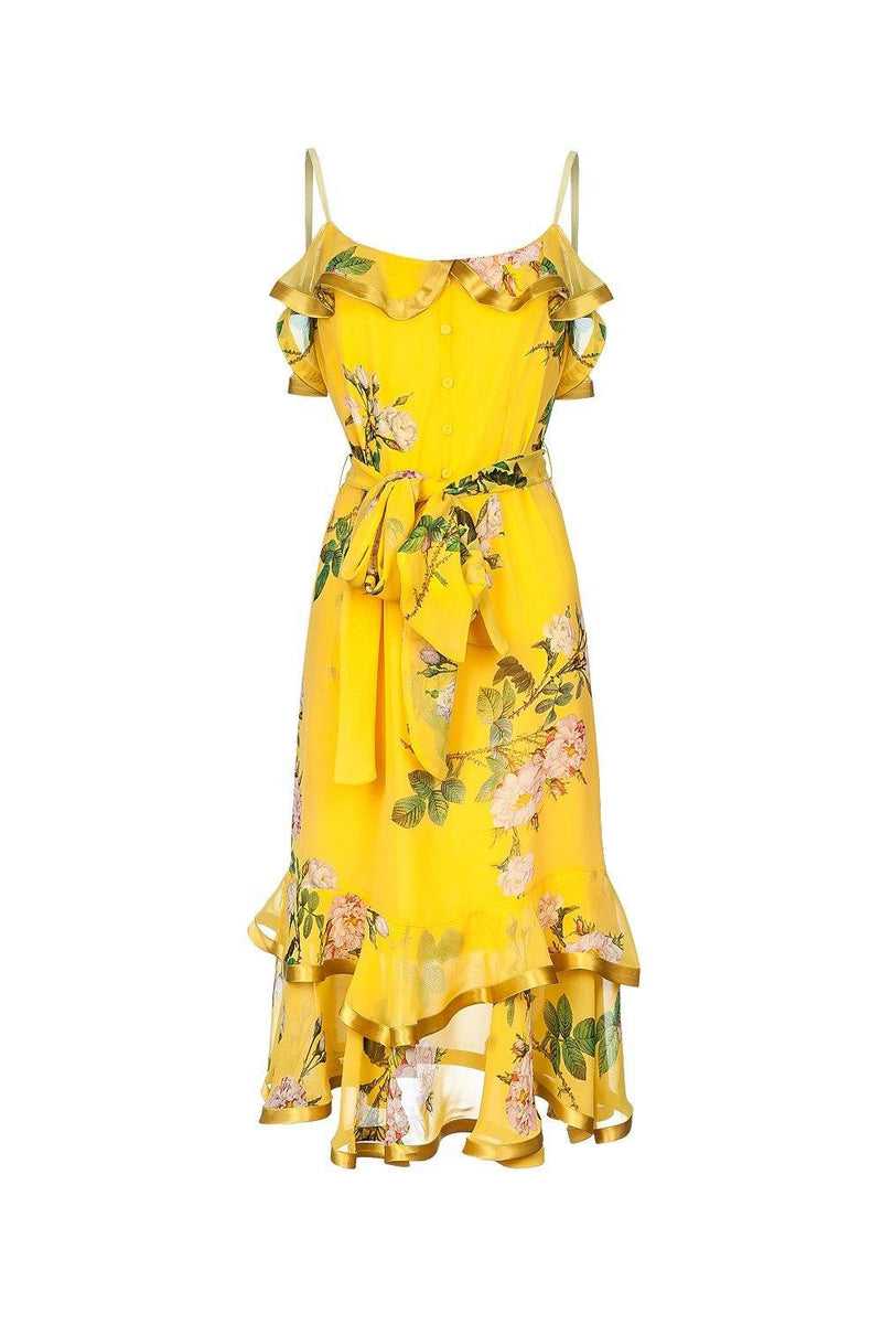 Rose yellow dress - dress