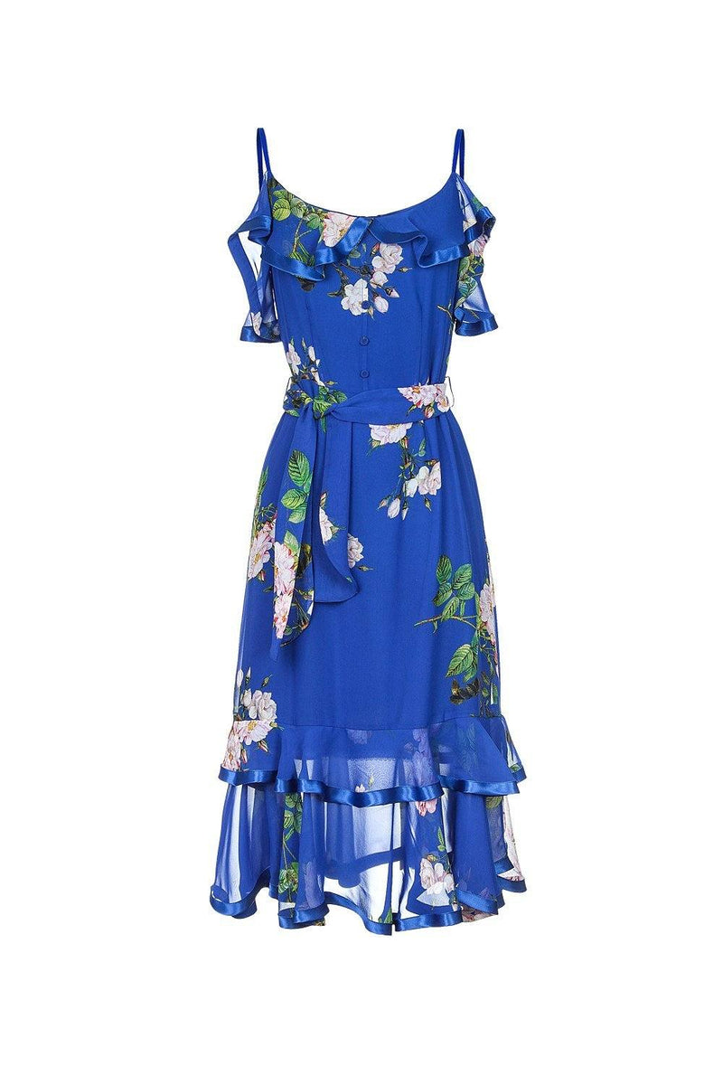 Blue rose dress - dress