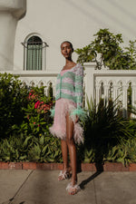 andreeva skirt with feather