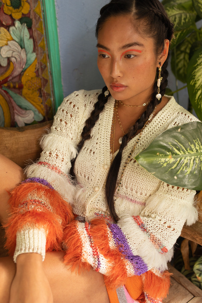 andreeva multicolor handmade knit sweater