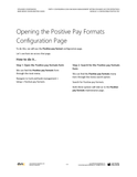 BBCG.04.05.D365.2.PDF: Configuring the Cash and Bank Management within Dynamics 365 for Operations (Second Edition) - Module 5: Configuring Positive Pay (Digital)