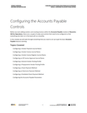 BBCG.06.01.D365.WG.1.PRINT: Configuring Accounts Payable within Dynamics 365 for Operations - Module 1: Configuring the Accounts Payable Controls (Print)