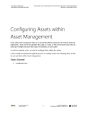 BBCG.19.04.D365.1.PDF Configuring Asset Management within Dynamics 365 Supply Chain Management - Module 4: Configuring Assets (Digital)