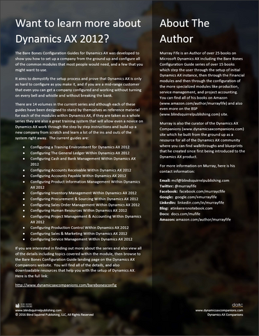 microsoft dynamics ax 2012 training manual pdf