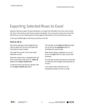 CB.54.D365.1.PDF Exporting Selected Rows to Excel (Digital)