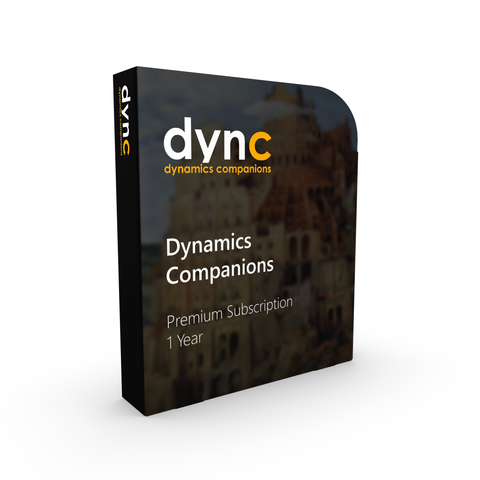 SUB.PREM+: Dynamics Companions Premium Plus Subscription (1 Year)