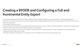 CB.51.D365.1.PPT: Creating a BYODB and Configuring a Full and Incremental Entity Export (PowerPoint)
