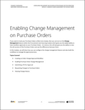 BBCG.09.05.D365.WG.1.PDF: Configuring Procurement and Sourcing within Dynamics 365 for Operations - Module 5: Enabling Change Management on Purchase Orders (Digital)