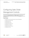 BBCG.10.01.D365.WG.1.PDF: Configuring Sales Order Management within Dynamics 365 for Operations - Module 1: Configuring the Sales Order Management Controls (Digital)