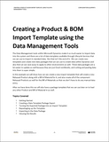 WG.06.D365.1.PDF: Creating a Product & BOM Import Template using the Data Management Tools (Digital)