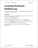 WG.07.D365.1.PDF: Using The Database Log To Track Changes To Records (Digital)