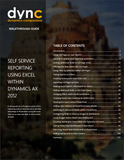 WG.14.AX2012.1.GUIDE.PDF: Self Service Reporting Using Excel and PowerView within Dynamics AX 2012 (Digital)