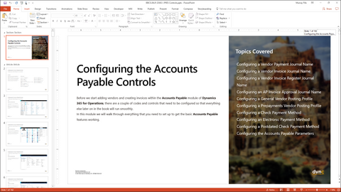BBCG 06 01 D365 WG 1 PPT: Configuring Accounts Payable within Dynamics 365  for Operations - Module 1: Configuring the Accounts Payable Controls