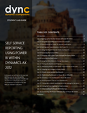 WG.15.AX2012.1.LAB.PDF: Self Service Reporting Using Power BI within Dynamics AX 2012- Student Lab (Digital)