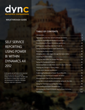 WG.15.AX2012.1.GUIDE.PRINT: Self Service Reporting Using Power BI within Dynamics AX 2012 (Print)