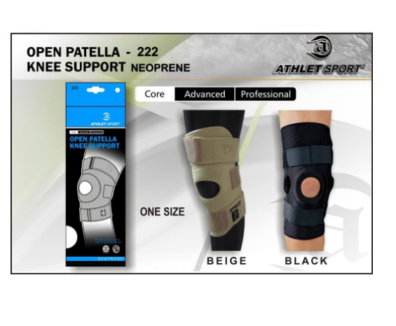 Athlet Sport Open Patella Knee Support Neoprene 222