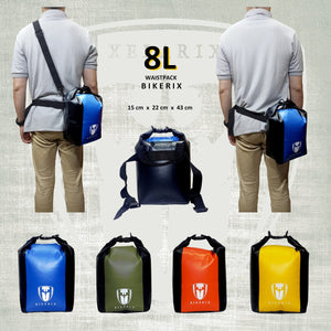 Tas waterproof anti hujan Waistbag 8L BIKERIX