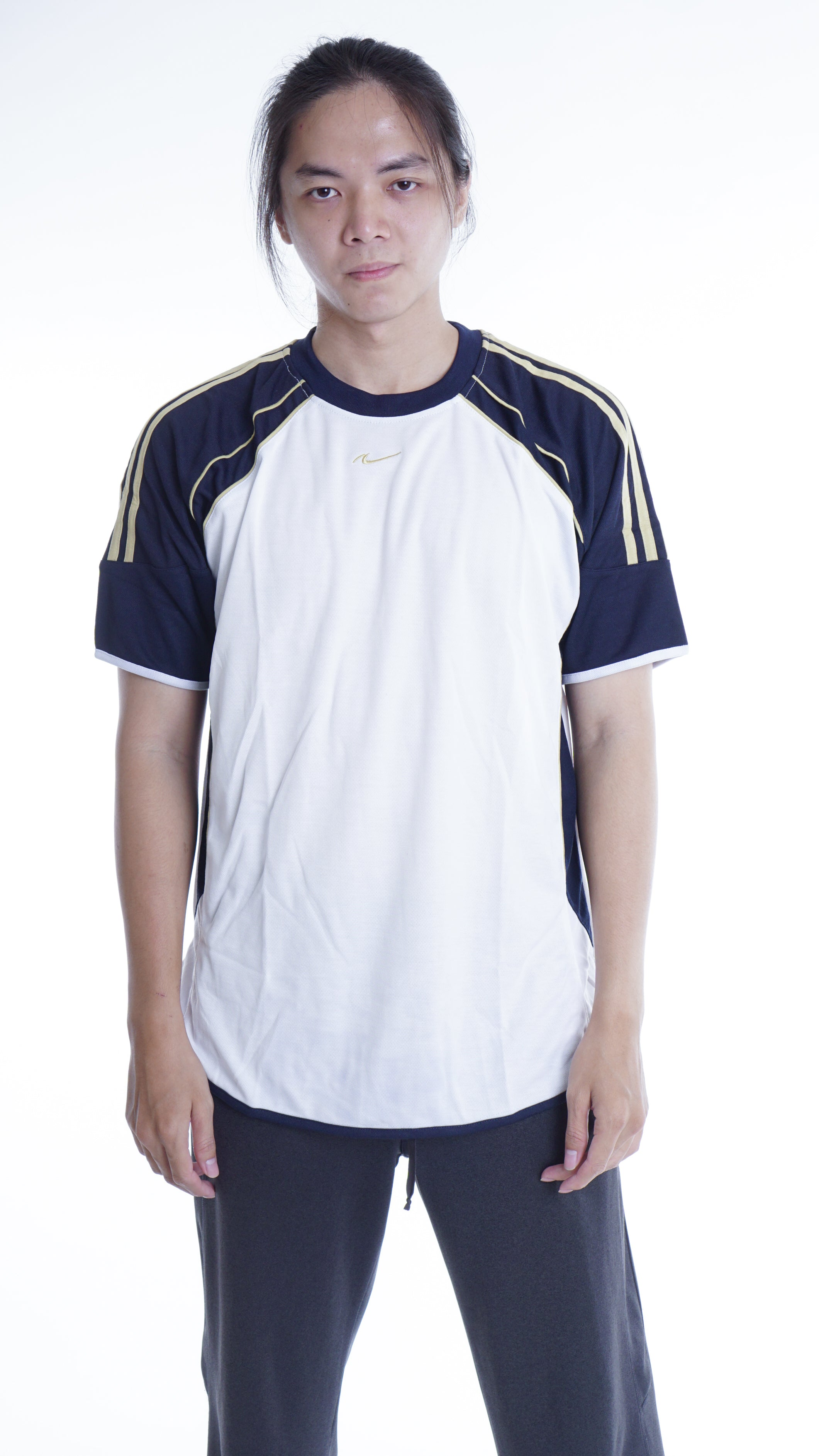 NICE DRYFIT COTTON TEE OBLONG CHELSEA JERSEY PUTIH NAVY GOLD