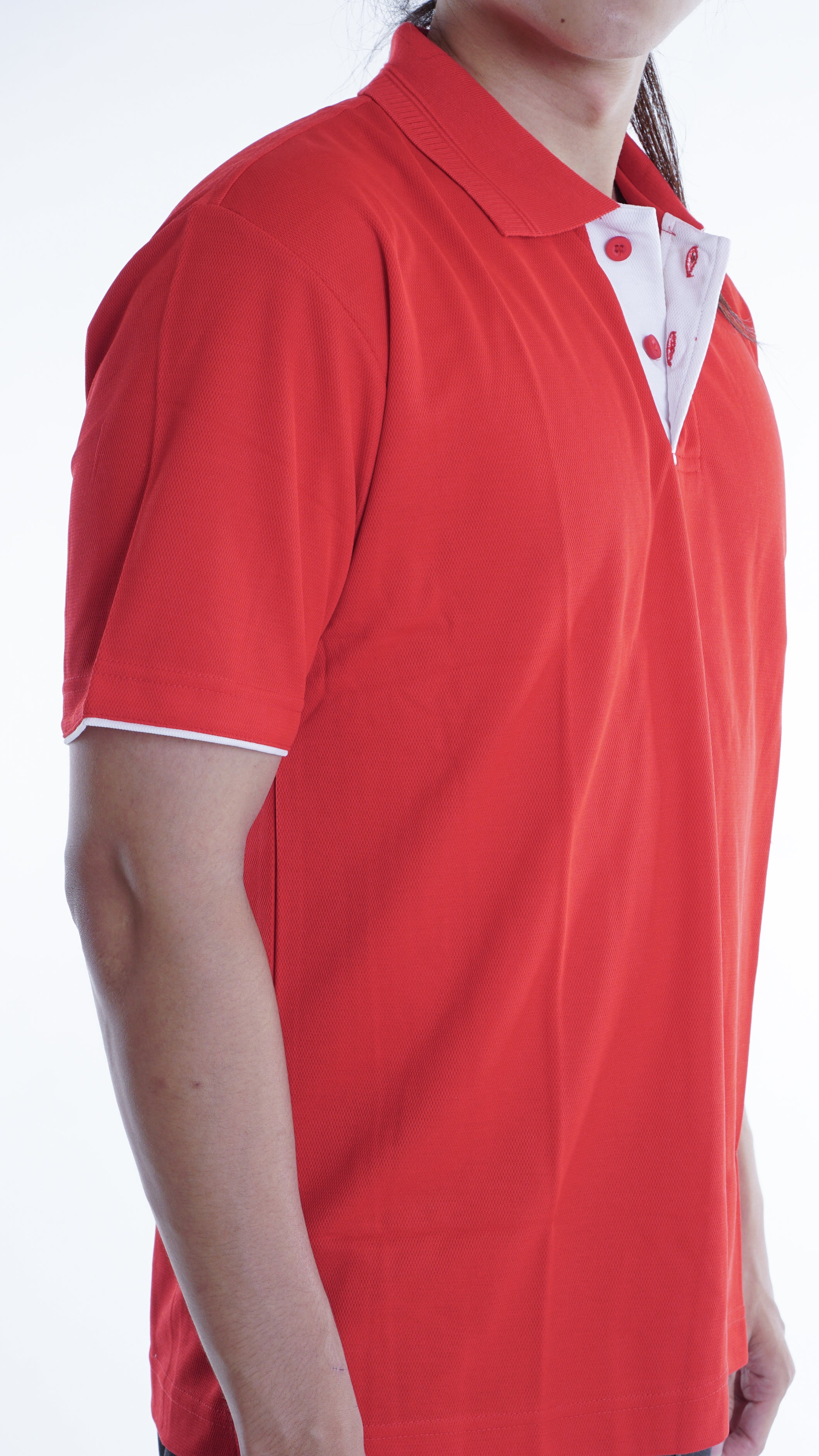 Kaos Polo Simple MH0078 Merah Putih