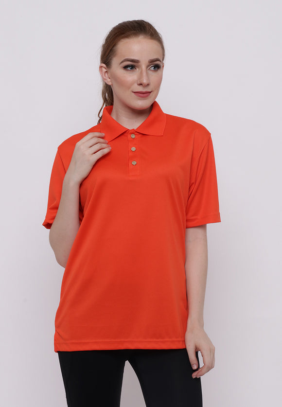 Hitscore Polo Shirt Short Sleeve Orange