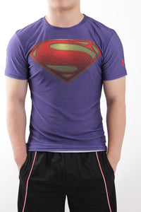 Men's HeatGear® Superman™ Sleeve Training T-Shirt
