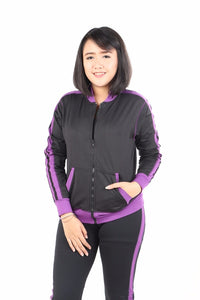 Angel Passion Jaket sport bomber wanita strip 1