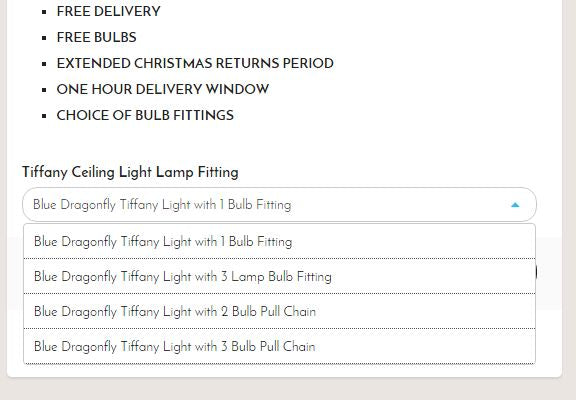 Tiffany Lighting Direct ceiling light options