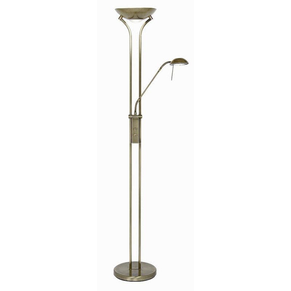 MOTHER & CHILD FLOOR LAMP ANTIQUE BRASS