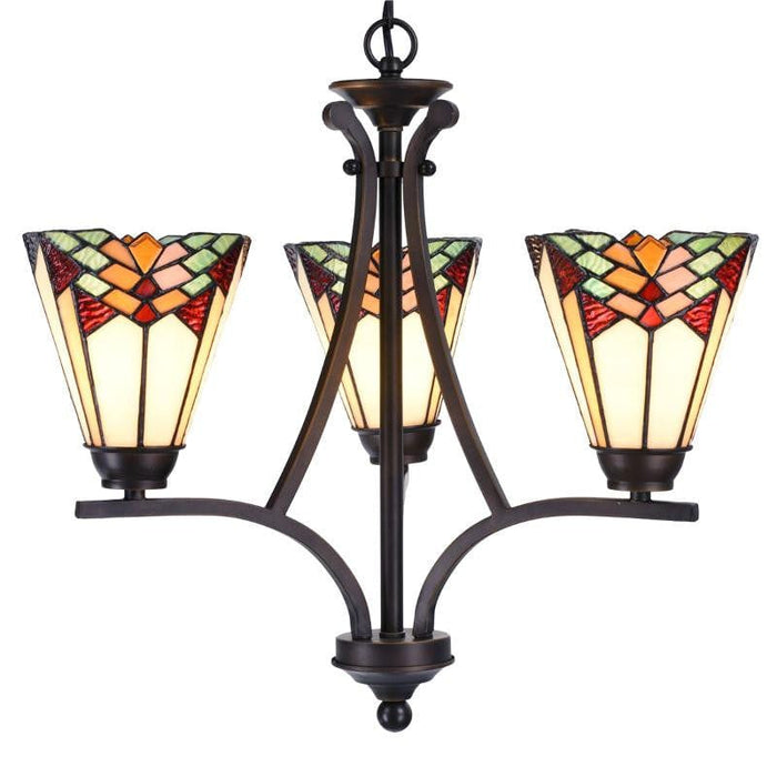Leamington Tiffany Uplighter Ceiling Light