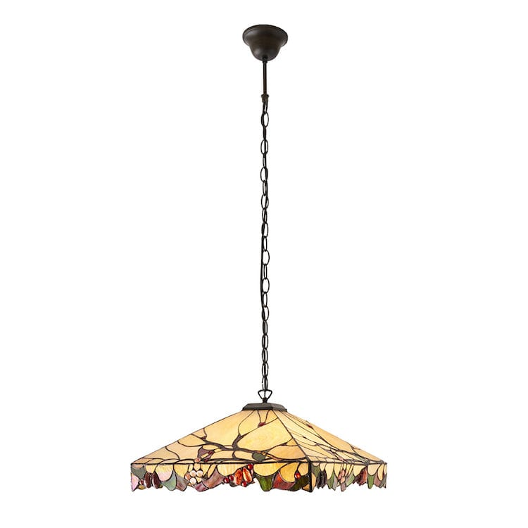 Tiffany Ceiling Pendant Lights - Arbois Tiffany Ceiling Light 63907 1