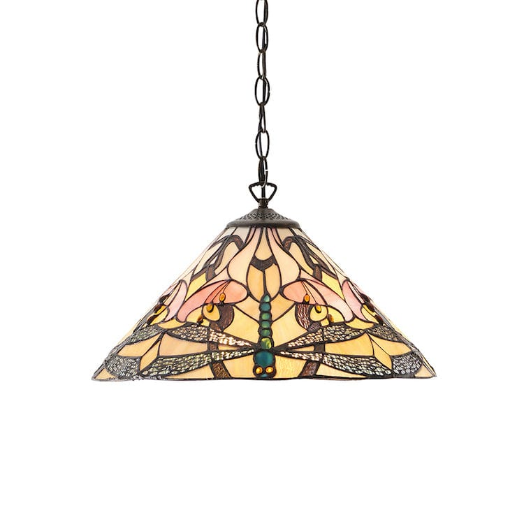 Tiffany Ceiling Pendant Lights - Ashton Tiffany Ceiling Light 63923 One Bulb