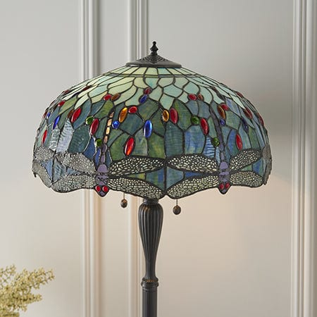 Blue Dragonfly Tiffany Floor Lamp 64069